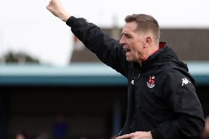 Crusaders manager Stephen Baxter.  Photo by David Maginnis/Pacemaker Press