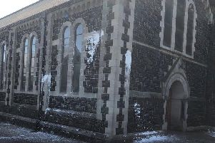 Sacred Heart Church was targeted by vandals sometime between midnight on Saturday and early this morning.