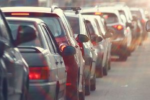 Newtownabbey collision causing delays