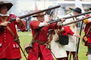 A previous re-enactment of the Siege of Carrickfergus Castle. Pic by Kelvin Boyes / Press Eye.
