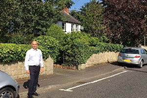 Roy Beggs MLA pictured at Lynda Avenue.