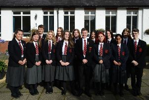 Ballyclare High School AS students who all received 4 A grades.