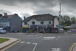Police are investigating after a robbery at Blooms Jewellers in Ballyclare. Pic by Google.