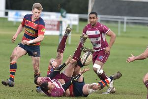 Action from Old Northamptonians' emphatic win over Newport (Pictures: Dave Ikin)