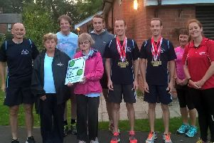 On your marks-Chris and Dave Lazenby  launched  the inaugural jogging session for runners with learning disabilities