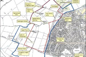 Developers have already submitted plans for 1,900 homes on the Norwood Farm land west of Duston. Plans for a further 1,580 are likely to be received by the end of 2017.