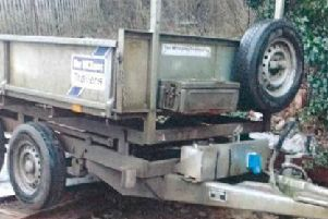 A tipping trailer has been stolen overnight from Northampton