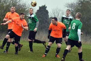 Action from Mereway's 5-0 Division One Cup win over Corby Eagles (Pictures: Dave Ikin)