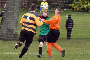 Action from West Haddon's 2-1 win over Real Roochers (Pictures: Dave Ikin)