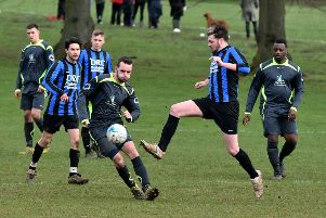 Action from Abington Stanley v Denton (Pictures: Dave Ikin)