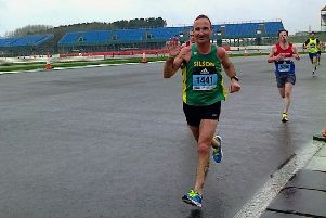 Andy Pacey was the first Silson AC runner home in the Adidas Silverstone Half Marathon