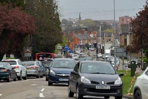 Temporary traffic lights in Weedon Road have been causing delays of half-an-hour and above... and they could be here until May.