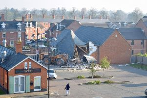 The aftermath in St Crispin's this morning.