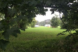 Travellers at Eastfield Park. The group was ordered to leave Lings Park on Friday.