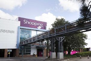 The south car park at Weston Favell Shopping Centre had to be evacuated this afternoon.