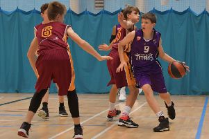 ONE THE BALL - action from Northants Thunder Under-14s clash with Northamptonshire Titans on Saturday (Pictures: Dave Ikin)
