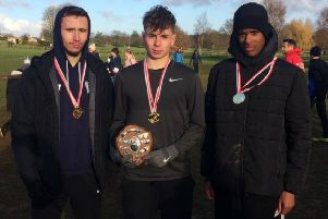 Rugby & Northampton's U17 winning team Matthew Chronicle, Adam Searle and Muss-Ab Hassan