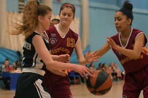 Action from Northants Lightning Under-16s' clash with Manchester on Saturday (Pictures: Dave Ikin)