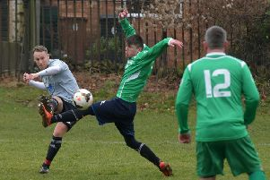 Action from the Sunday morning clash between Foundry and Monks Park (Picture: Dave Ikin)