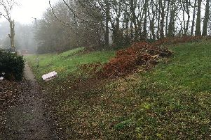 A dumped mattress sits on a pathway in Lings. Residents in the east of Northampton believe waste contractors Enterprise have 'given up'.