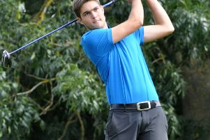 Jensen Parfitt had to settle for second behind Jack Johnson in the February Saturday Stableford at Collingtree
