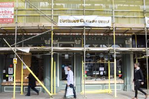 Lawrence's coffee shop in St Giles Street shut last year after the Oliver Adams company went bust. it could now be turned into a restaurant and flats.