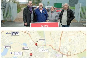Above, campaigners in St James have been calling for a link road for seven years. The proposed route, below, has now been given the go-ahead.