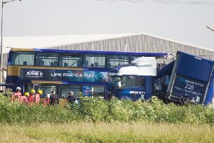 The scene of the fatal crash on the A47 today