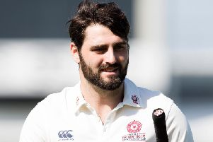 Brett Hutton took four wickets before being dismissed without scoring (picture: Kirsty Edmonds)