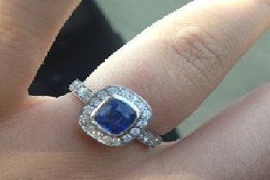 One of the rings stolen during the burglary