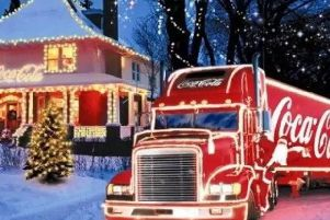 The iconic Coca-Cola Christmas truck
