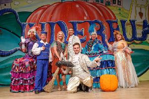 The cast of Cinderella at The Castle Theatre