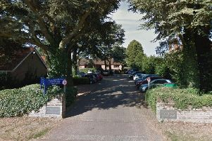 The entrance to the Pytchley Court Nursing Home site