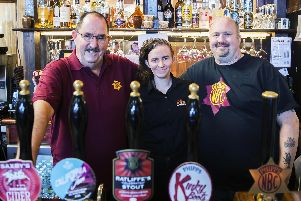 Ian McCauley, Krissee Holmes and Steve Reid want to make sure Phipps Albion Brewer is a place families of all ages can go to enjoy a drink and some hearty pub grub. Picture credit: Kirsty Edmonds.