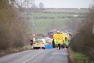 Emergency services at Hardwater Road. Picture by Chris Donohoe. NNL-190130-110526005
