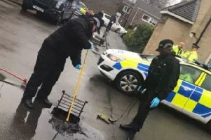 A drain is searched following the shooting over Christmas NNL-190221-140655005 NNL-190221-140655005
