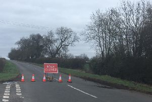 The road between West Haddon and Guilsborough has been shut