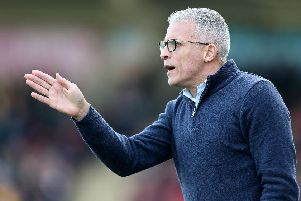 Keith Curle at Whaddon Road. Picture: Pete Norton