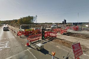 The roadworks at the Geddington Road A43 junction