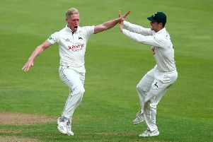 Luke Wood (left) has joined Northants on loan from Nottinghamshire