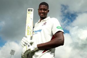 Jason Holder spoke to the media in Northampton on Wednesday