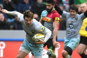 Ben Foden scored a dramatic added-time try when Saints last won at the Stoop, in February 2016
