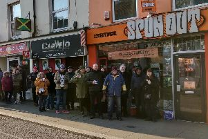 Queues of over 100 collectors were read outside Spun Out for Record Store day on Saturday.