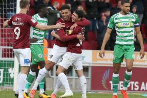 FINE FORM: Daniel Powell has scored three goals in his last five games for the Cobblers. Pictures: Pete Norton