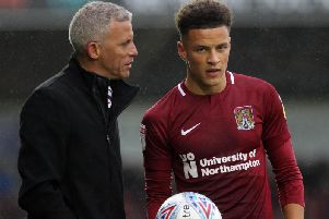 Keith Curle and Shaun McWilliams
