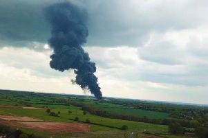 Explosions heard close to the scene of the fire at Sywell