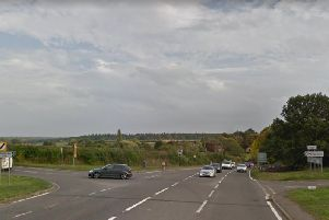 The busy A428 junction