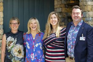 Helen Elks-Smith with the Warner's Team at RHS Chelsea Flower Show