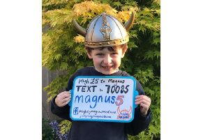 Seven-year-old Mighty Magnus has battled a rare form of cancer over the past 18 months.