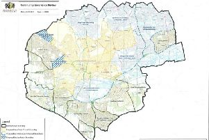 The Option B map of proposed parishes